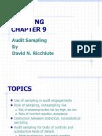 Chapter 9 - Audit Sampling