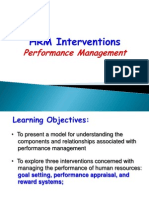 HRM Interventions Performance Management