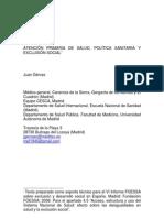 APS, política sanitaria y exclusión social
