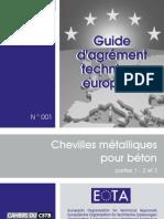 GuideATE001_CHEVILLES MÉTALLIQUES POUR BÉTON