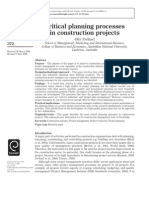 Critical Planning Process in Construction Project