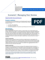 B4EE Scenario 7 - Managing Peer Review