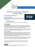 B4EE Scenario 15 - Assessing Individual Student Blogs