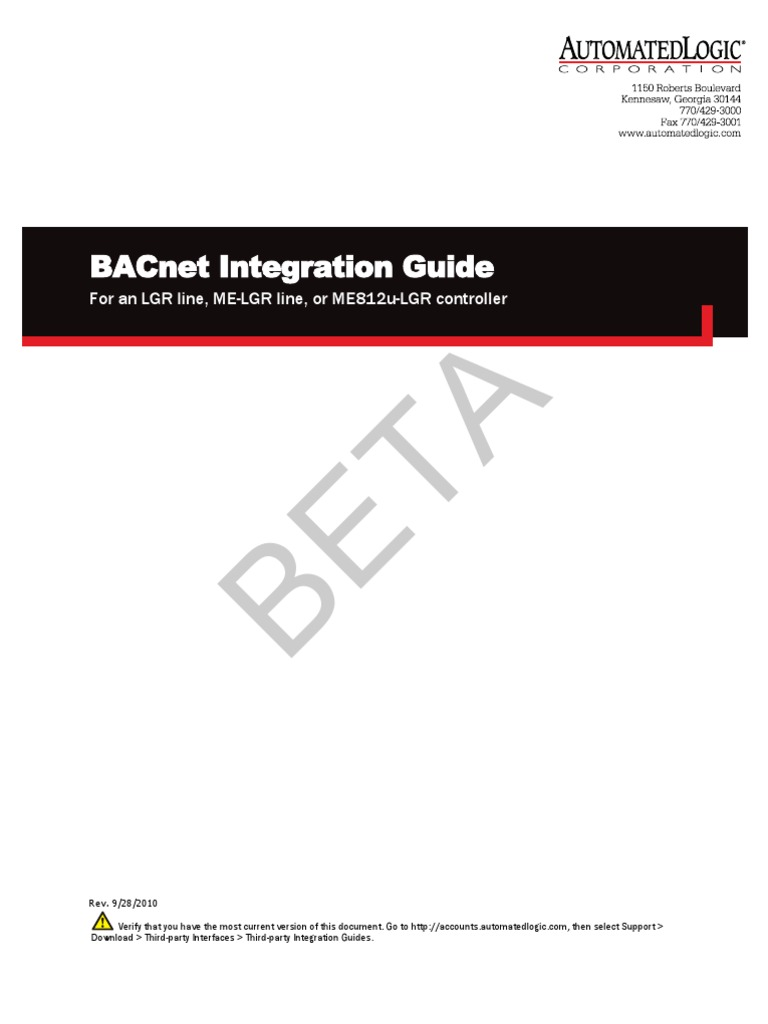Bacnet Integration Guide For Lgr Me Me812u Beta Ip Ms Tp Wiring Address Computer Network