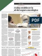 El Congreso evalúa establecer la obligatoriedad del seguro oncológico