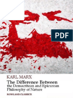 22759637 Karl Marx the Difference Between the Democritean and Epicurean Philosophy of Nature