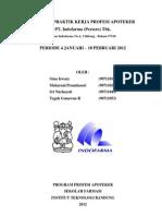 Laporan PKPA Industri Tugas Umum