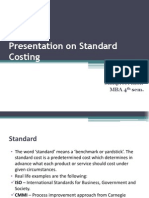 Presentation on Standard Costing