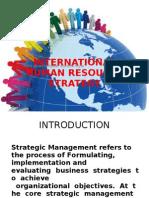 International Human Resourse Strategy