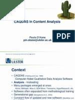 CAQDAS in Content Analysis