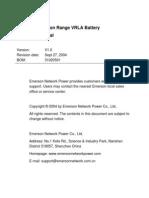 EmersonDurationRange VRLABattery Technical Manual