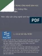 SỬ DỤNG NCBI TRONG CÔNG NGHỆ SINH HỌC