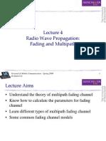 4 Radio Propagation - Fading