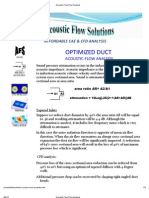 Acoustic Flow Duct Analysis