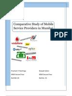 53005151 Comparitive Study of Mobile Service Providers in Mumbai Prashant Deepak