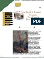 Batalla de Tarapacá ; Campañas Terrestres de la Guerra del Pacífico