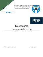 Degradarea Stratului de Ozon