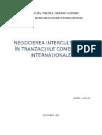 Negocierea Interculturala in Tranzactiile Comerciale Internationale