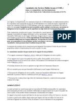 CCSPL & rapport annuel du délégataire - textes officiels