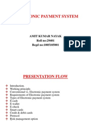 Electronic Payment System | Payments | Payment System
