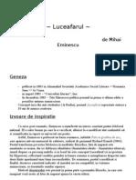 Luceafarul -comentariu-