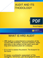 Hrd Audit and Its Methodology