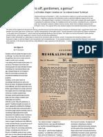 Schumann Article on Chopin Opus 2