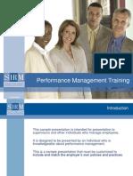 2008 Performance Management Training