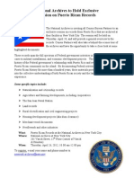National Archives - Exclusive Session on Puerto Rican Records