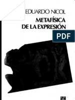 01 Nicol - Metafisica de La Expresion