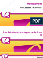 1-Les théories économiques de la firme, 1ère partie