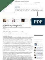 A globalização do protesto - suplementos - geral - Estadão