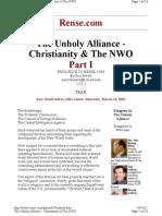 Unholy Alliance, Christianity & the NWO