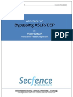 Whitepaper on ASLR DEP Bypass Secfence Technologies