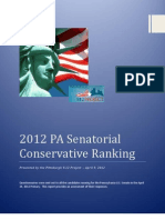 DRUM ROLL PLEASE 2012 Pittsburgh 9.12 Project Conservative Ranking