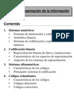 Representacion de La Informacion Decimal Binario Hexadecimal Octal