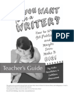 So, You Want to Be a Writer?—Teacher's Guide