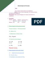 Determinação de Fórmulas Químicas