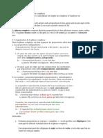 La Phrase Simple Et La Phrase Complexe