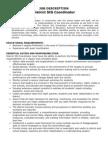 job description grant coordinator