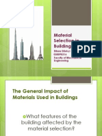 Material Selection in Buildings