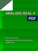 Analisis Real II Pertemuan 1