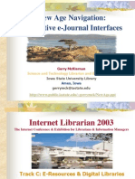 Innovative e-Journal Interfaces