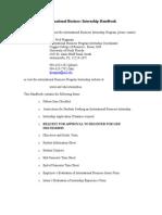 i b Internship Handbook