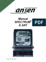 Manual de Instrução Spectrum K-2,5 ART e Spectrum K ART rev. MAIO11