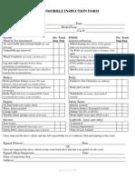 Automobile Inspection Form