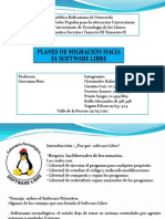 Planes de Migración Hacia el Software Libre