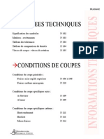 Conditions de Coupe Sunsteel