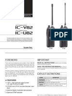 Icom IC V82 U82 Manual