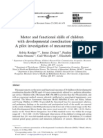 2003 Motor and Functional Skills of Children